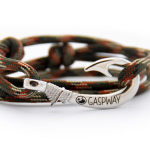 braccialetto-amo-da-pesca-verde-camouflage-amo-acciaio