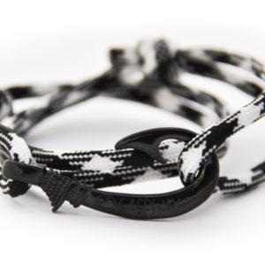 braccialetto amo da pesca black white amo nero