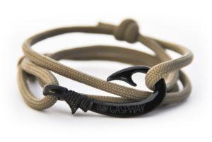 braccialetto amo da pesca covert green amo nero