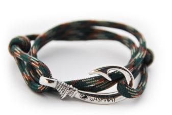braccialetto amo da pesca dark blackish camo amo acciaio