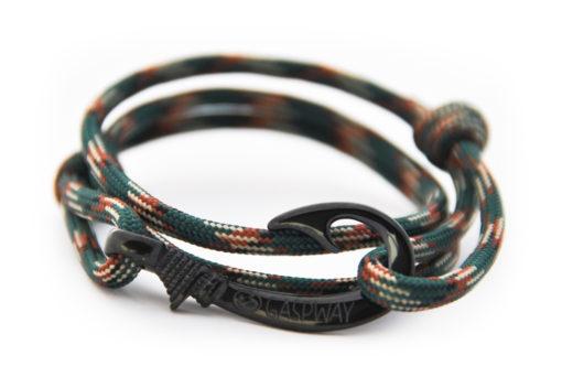 braccialetto amo da pesca dark blackish camo amo nero