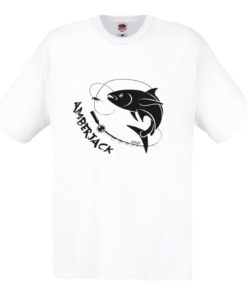 t-shirt pesce amberjack bianca