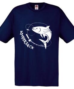 t-shirt pesce amberjack blu