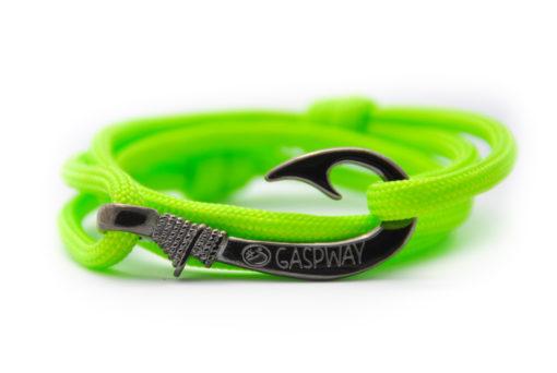 braccialetto-amo-da-pesca-fluo-green-amo-canna-di-fucile