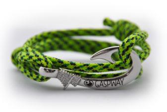 braccialetto-amo-da-pesca-fluor-green-snake-amo-acciaio