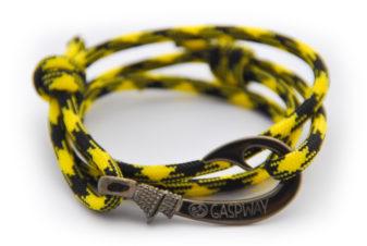 braccialetto-amo-da-pesca-yellow-black-amo-canna-di-fucile