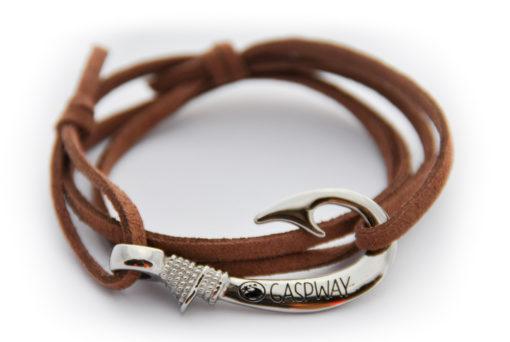 braccialetto-amo-da-pesca-alcantara-marronechiaro-amo-acciaio