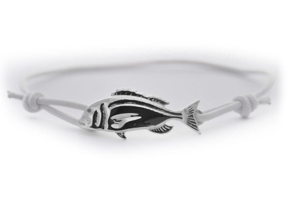 braccialetto dentice argento bianco