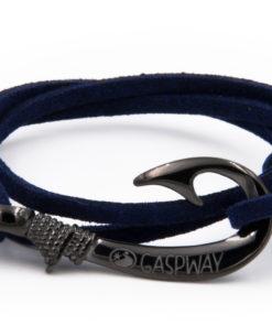 braccialetto gaspway amo da pesca alcantara blu amo canna di fucile