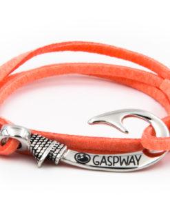 braccialetto gaspway amo da pesca alcantara salmone amo acciaio