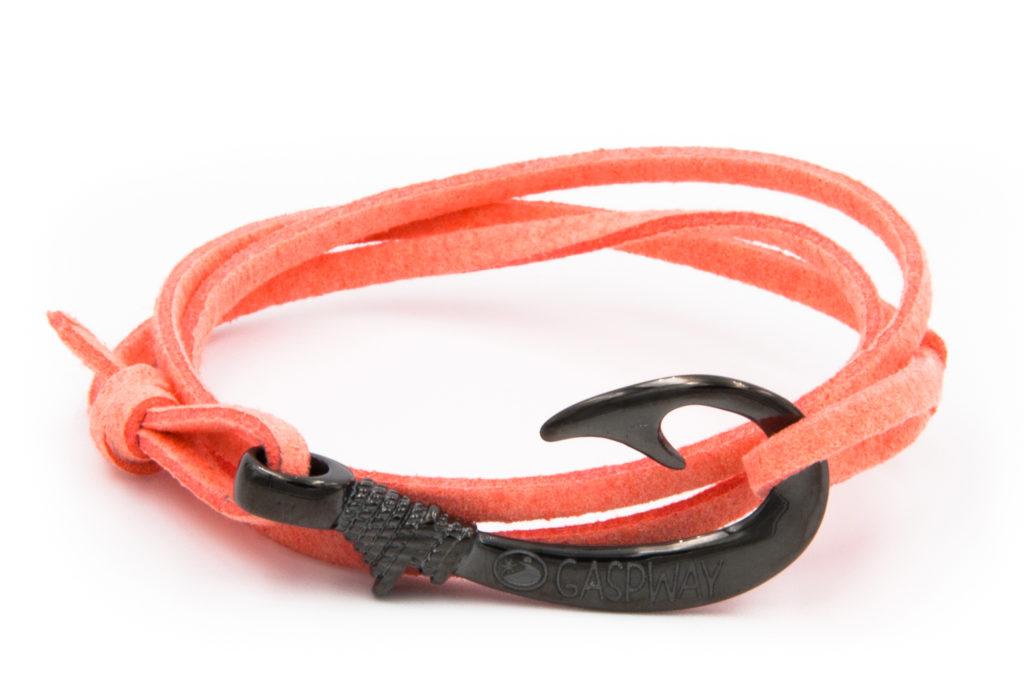 braccialetto gaspway amo da pesca alcantara salmone amo canna di fucile