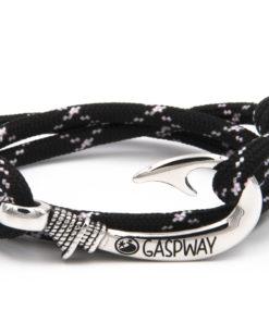 braccialetto gaspway amo da pesca black pink x amo acciaio