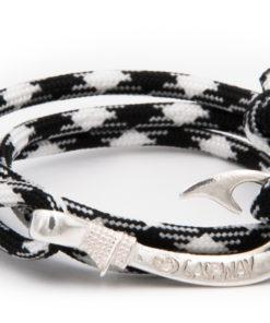 braccialetto gaspway amo da pesca black white amo argento