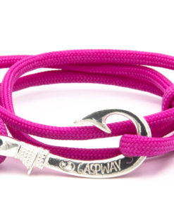 braccialetto gaspway amo da pesca pink amo argento