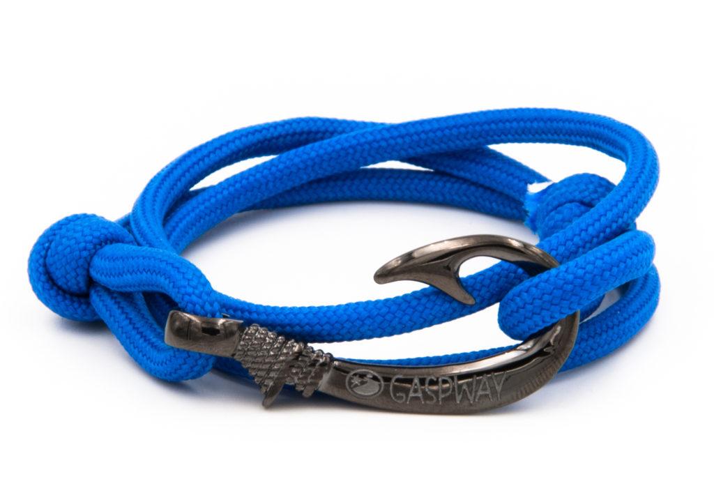 braccialetto gaspway amo da pesca electric blue amo canna di fucile