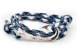 braccialetto gaspway amo da pesca navy white amo argento