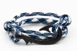 braccialetto gaspway amo da pesca alcantara navy white amo nero