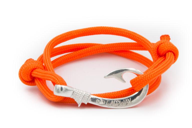 braccialetto amo da pesca gaspway arancione amo argento