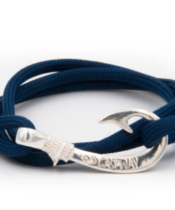 braccialetto amo da pesca gaspway blue navy amo argento