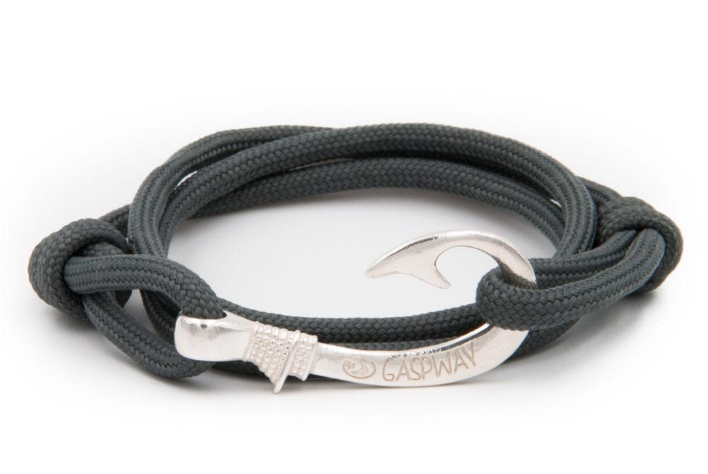 braccialetto amo da pesca gaspway grigio chiaro amo argento