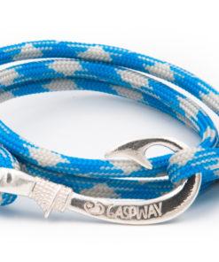 braccialetto amo da pesca gaspway sky blue grey amo argento