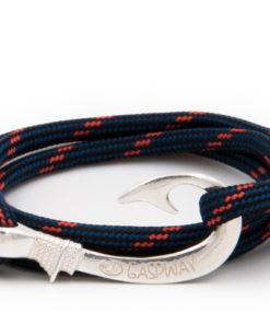 braccialetto amo da pesca gaspway thin orange amo argento