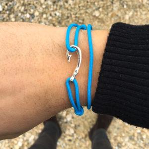 Braccialetto mini amo da pesca azzurro gaspway